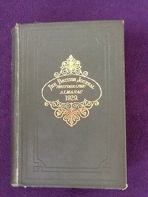 Rare Book - The BRITISH Journal Photographic Almanac 1929 Photography Cameras