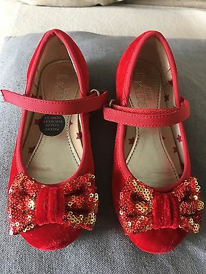 Gorgeous Red M&S Girls Party Shoes Size 10