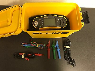 Fluke 1652 Multifunction Tester - C/w Test Leads, Carry Case & 12 Month Cal Cert