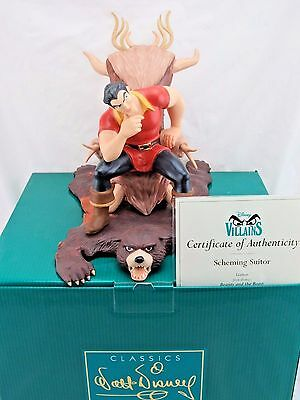 """WDCC """"Scheming Suitor"""" Gaston from Disney's Beauty and the Beast in Box COA"""