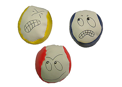 UK Innovative SmileyFace Juggling Balls Learn To Juggle Set of Three Circus Toys