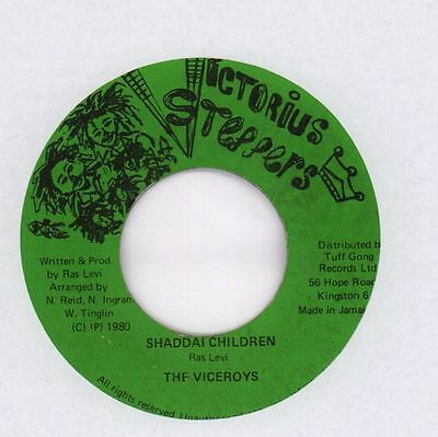 """The Viceroys(7"""" Vinyl)Shaddai Children-Victorious Steppers-Jamaica-1980-Ex/VG"""