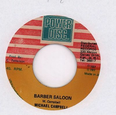 "Michael Campbell/ King Tubby's(7"" Vinyl)Barber Saloon/ Lagga The Barber-Ex/G"