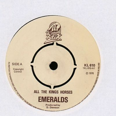 "Emeralds(7"" Vinyl)All The King's Horses/ Eventually-Klik-KL 610-UK-1976-Ex/Ex"