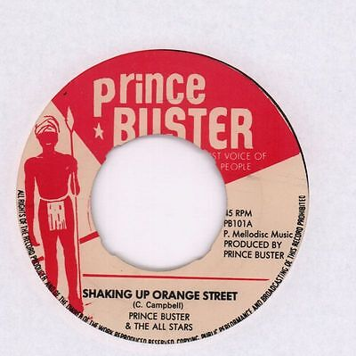 "Prince Buster And The All Stars(7"" Vinyl)Shaking Up Orange Street/ Blac-Ex/VG"