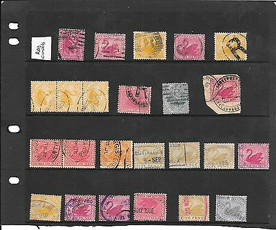 Western Australia  swans reg cancels + others  colour varieties nice