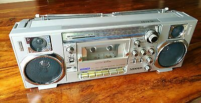 SANYO radio cassette tape player M 7900L mini slim boombox retro vintage