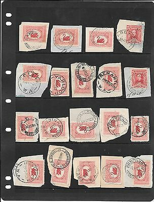 Western Australia pre dec lot 1 cancels page used nice