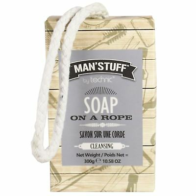 Man'Stuff Soap On A Rope Cleansing Bar Male Grooming 300g
