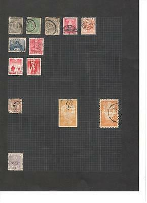 hx37 Japan 3 sides album page 105 stamps mixed condition
