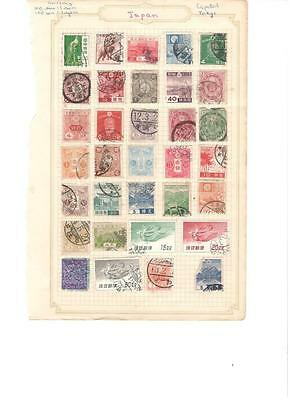 hx39 Japan 6 sides album page 160 stamps mixed condition