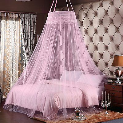 Mosquito Net. Double Bed Sized Canopy. Maximum Insect Protection, PINK. NEW.