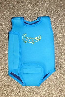 Boys Blue Mothercare Swim Wrap / Wet Suit. 3-6 Months. Keeps Baby Warm In Water.