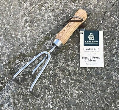 Kent & Stowe Garden Life Stainless Steel 3 Prong Claw Cultivator - Garden, Tool