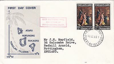 Tokelau: 3 Christmas FDC, 14 November 1969