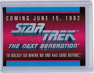 1992 Impel sample / promo STAR TREK The Next Generation 4 card lot see scans