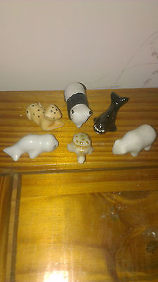 6 x vintage christmas cracker pot aminal prizes