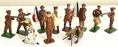 Fabulous Collection Of 11 Johillco Wwi Lead Figures | Toy Soldiers