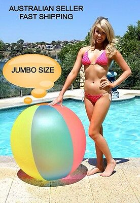 Jumbo Large 48' 122Cm Beachball Beach Ball Inflatable Blow Up Blowup Pool Toy