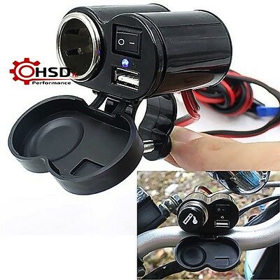 12V Waterproof Car ATV Boat Motorcycle USB/Cigarette Charge For KTM YAMAHA HONDA