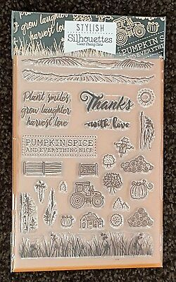 Hunkydory - For The Love Of Stamps – Pumpkin Spice Clear Stamp Set