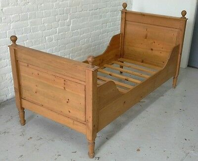 Solid Pine Victorian Single Sleigh Bed Frame