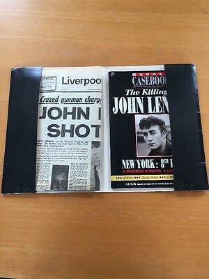 The Killing of John Lennon Murder Casebook + Free Newspaper of the Day 1990