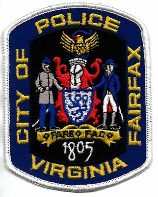 City of Fairfax Virginia Police Patch