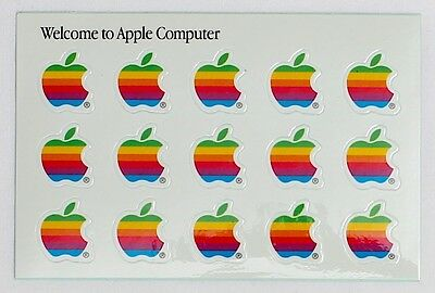 RARE Vintage Original Apple Computer Sticker Sheet Circa 1980's