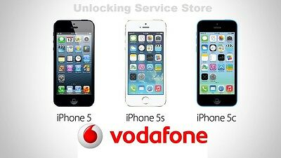 VODAFONE UK 100% Official unlocking Service iPhone 5/5S/5C/6/6S/6S/7