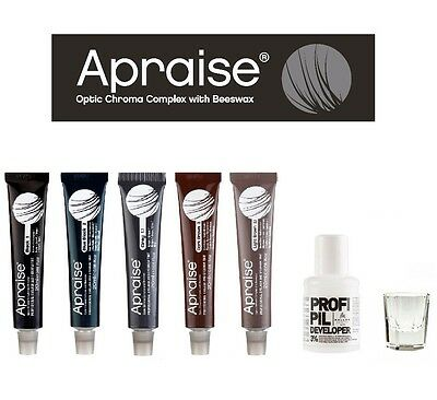 Apraise Dye Eyebrow & Eyelash Professional Tint Lash Tinting Colours 20ml or KIT