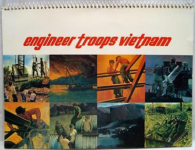 U.s. Army Engineer Troops Vietnam Artists Illustrated Art Booklet 1968 Vintage