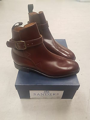 Sanders Newmarket Riding Boots in Oxblood (Brown) Leather