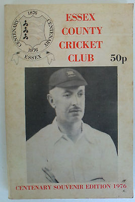 Essex County Cricket Handbook - Centenary Souvenir Edition 1976