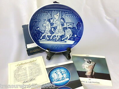 🌟 Bing & Grondahl Collector Plate The Carousel1993 Childrens Day +Coa+Box
