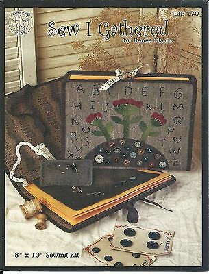 """Sewing Kit ~ by Renee Plains of Sew I Gathered ~ 8"""" x 10"""" ~ Primitive"""