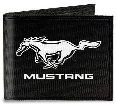 Canvas Ford Mustang Running pony logo bi-fold wallet - great gift