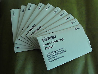Tiffen Lens Cleaning Paper Tissue Pack Of 50 Sheets