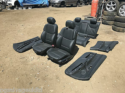 2007-2013 Genuine Bmw M3 E92 Coupe Full Black Leather Seats And Door Cards