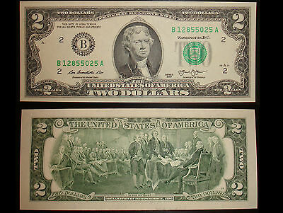 2 Dollar Schein New York (B) 2013 UNC. – Two Dollars New York (B) USA unc.
