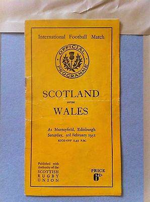 Scotland v Wales Five Nations 1951