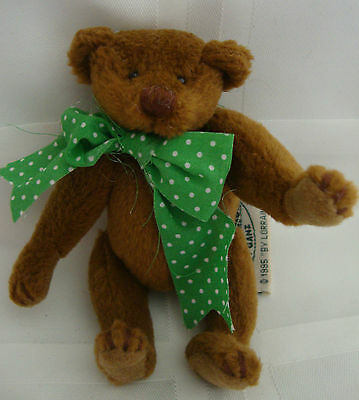 """Ganz Cottage Collectibles MUFFIN 5"""" Teddy Bear 1995 Artist Signed Mint"""