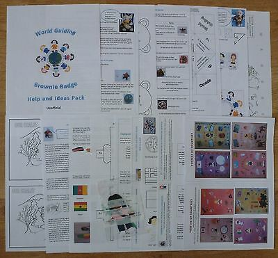 UK Brownie Guide - World Guiding Badge  - Help & Ideas Pack