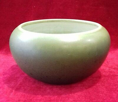 Bretby pottery bowl in green