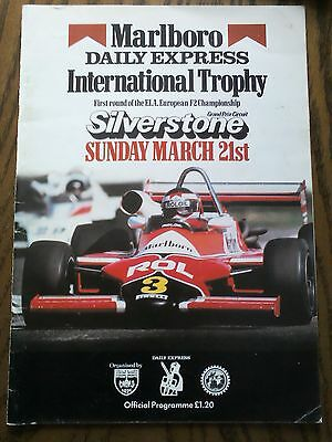 1982 Silverstone Programme F2 International Trophy GP Formula 1 F1 Motor Racing