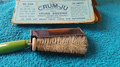Vintage Crumb Sweeper Tray Combined Crum-Ju Made In England Y.S.C Ltd