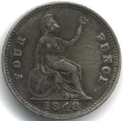 1848/6 Victoria Silver Fourpence/Groat***Collectors***
