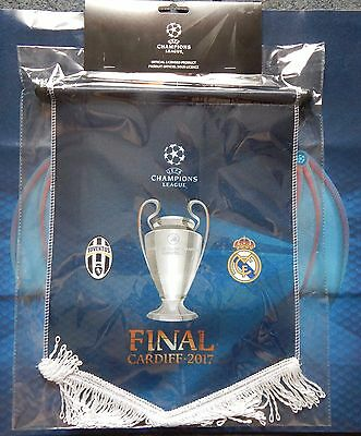 PENNANT Champions League final 2017 - JUVENTUS vs REAL M - UEFA Official product