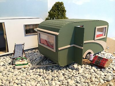 "Dolls house OLD Retro Caravan 1/4"" Scale 1/48th Kit"
