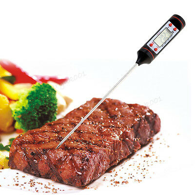 Digital Food Thermometer Probe Temperature Meter Kitchen Cooking BBQ Meat Turkey